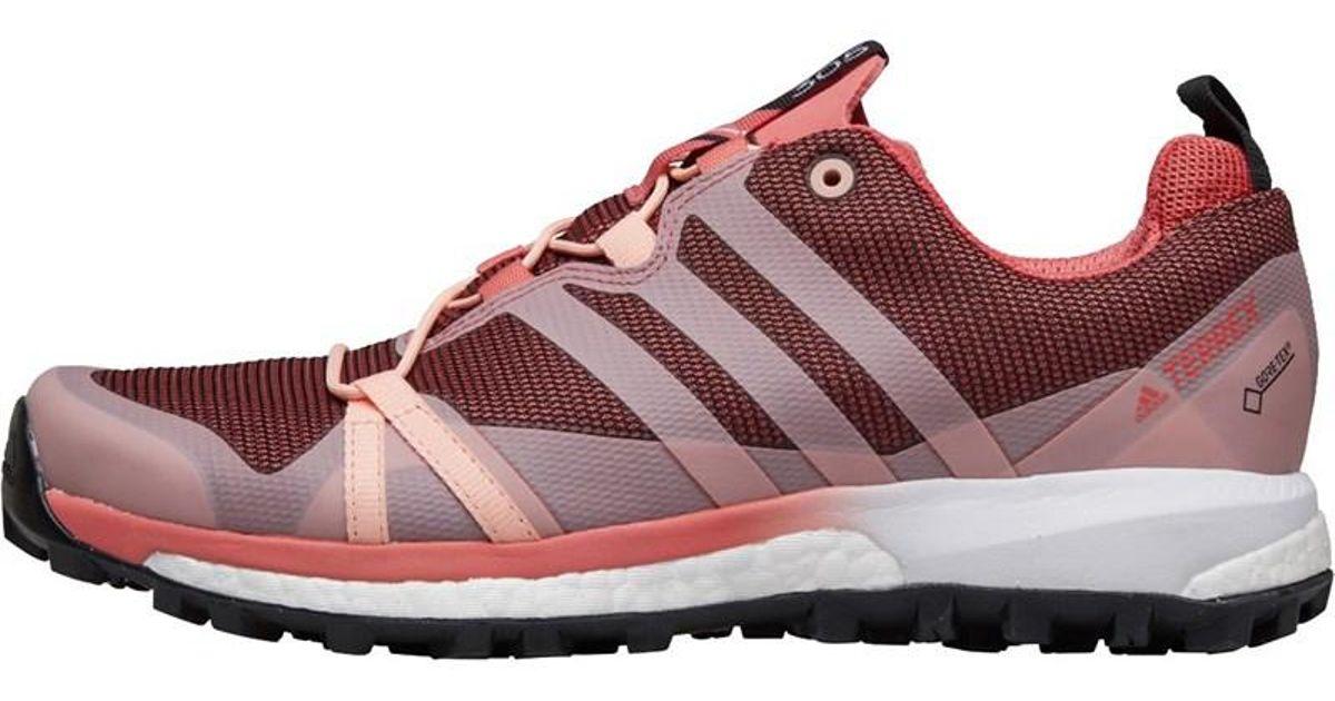 Adidas Terrex Agravic Gtx Gore tex Trail Running Shoes Tactile Pinkhaze Coralcloud White