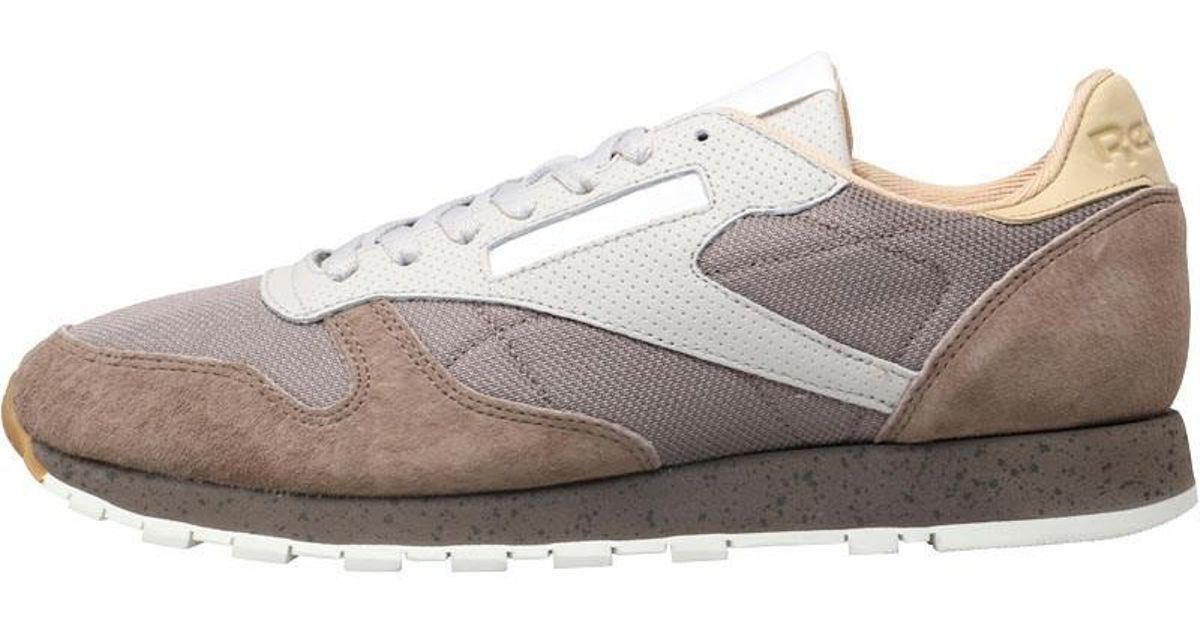 03de159656cb Reebok Leather Urban Descent Trainers Stone Grey sand Stone utility Grey in  Gray for Men - Lyst