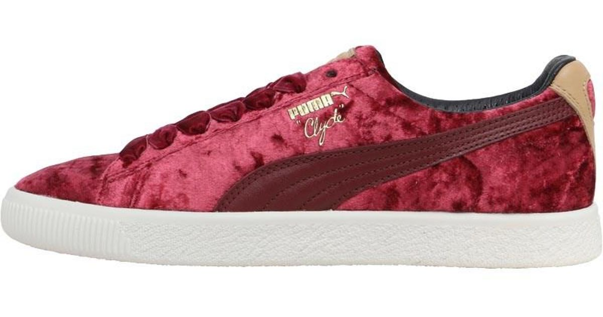 6f4186537da4ae PUMA X Extra Butter Clyde Kings Of New York Pack Trainers Cabernet whisper  White - Lyst