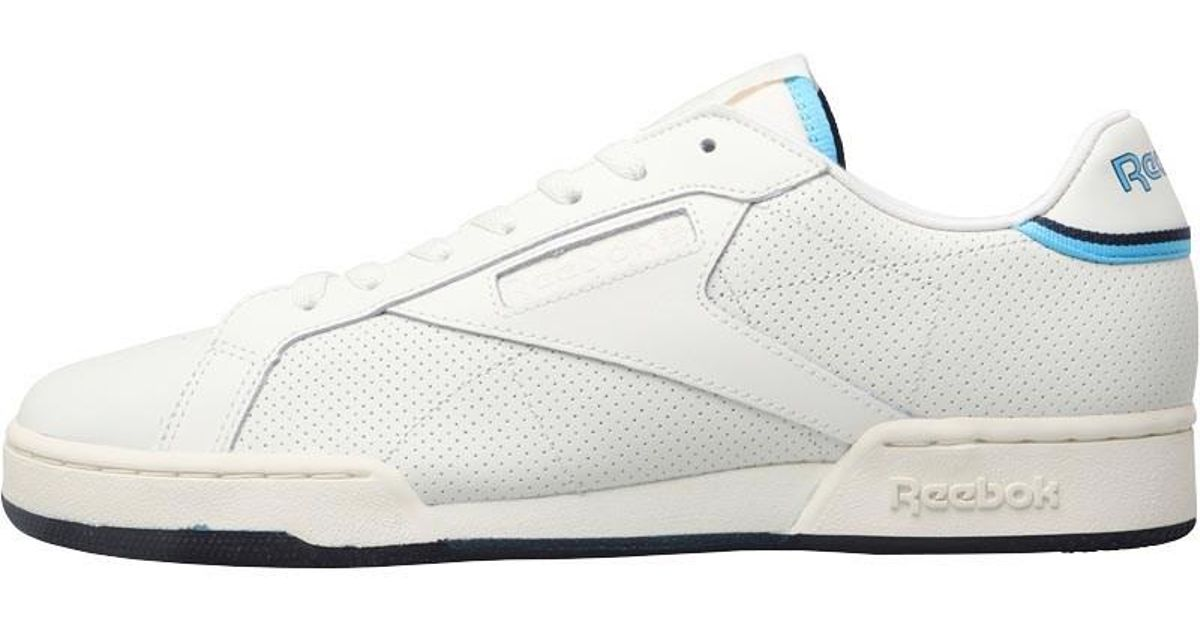 Reebok Classics Npc Uk Ii Tennis Hall Of Fame Trainers Chalk classic White blue  Beam navy in White for Men - Lyst b00afb7aa