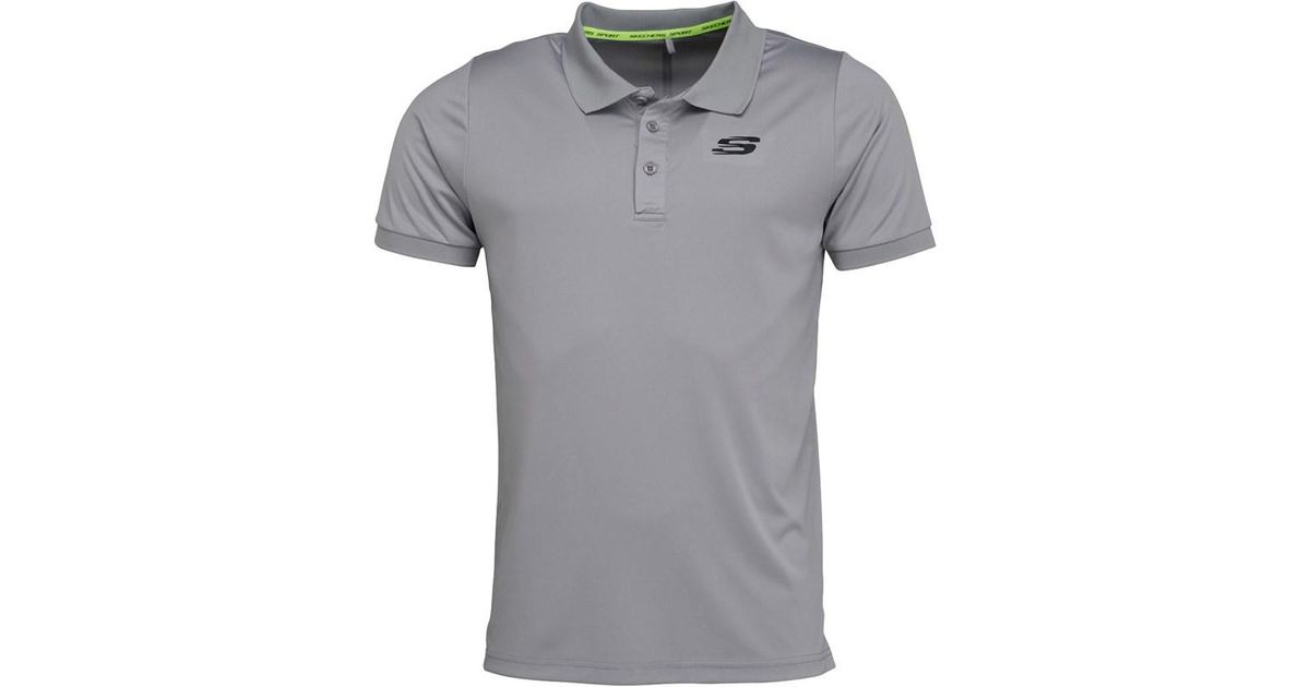 Synthetic Levi Performance Polo Grey