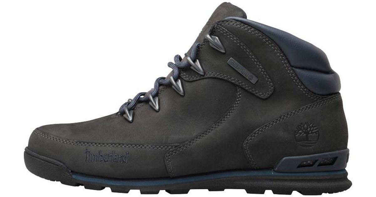 1c801ba0a9e Timberland Gray Euro Rock Hiker Nubuck Boots Forged Iron for men