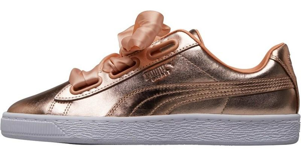 info for 17ac9 4f19c PUMA Multicolor Basket Heart Luxe Trainers Dusty Coral