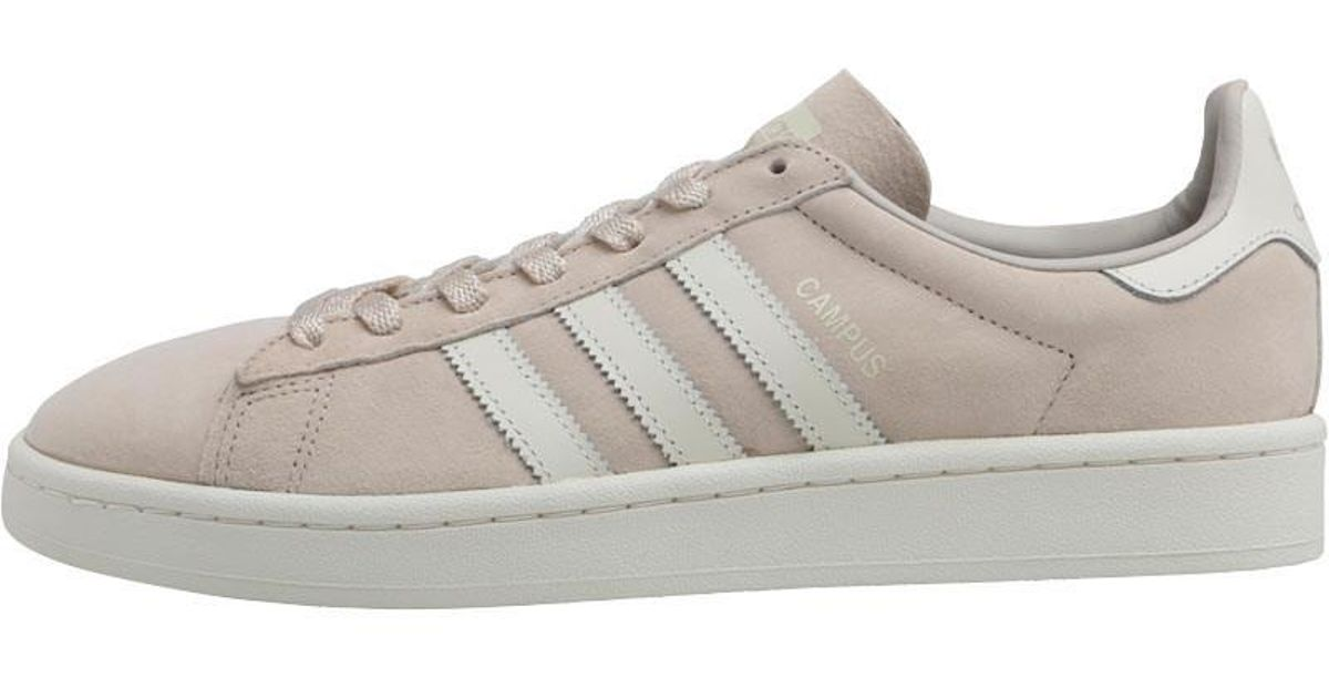 best pretty nice factory price adidas Originals Leather Campus Trainers Clear Brown/off ...