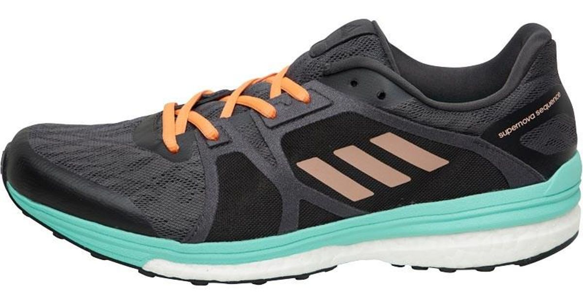8c7609778cd3b adidas Supernova Sequence Boost 9 Stability Running Shoes Utility  Black tech Rust Metallic easy Green - Lyst