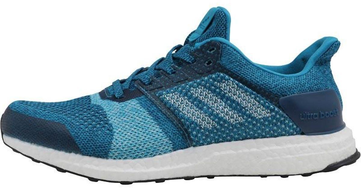 Adidas Ultraboost Stability Running Shoes Mystery Petrolwhiteblue Night for men