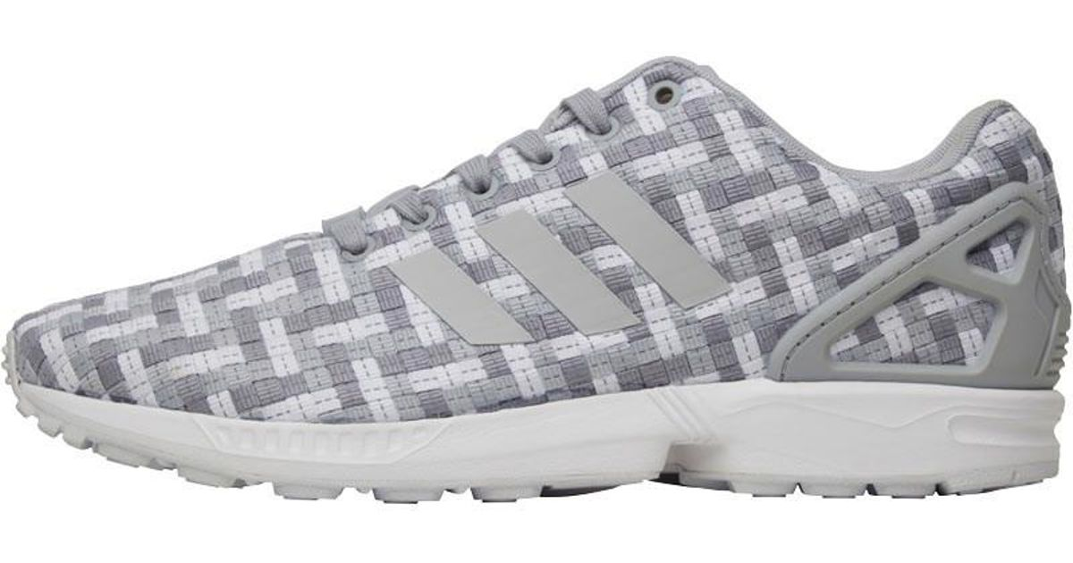 the best attitude 188e4 0eaf5 Adidas Originals Gray Zx Flux Trainers Clear Onix/light Onix/white