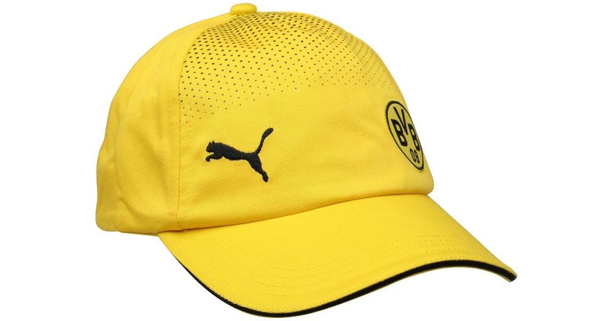 Puma Cotton Bvb Borussia Dortmund Supporters Cap Cyber Yellow Black For Men Lyst