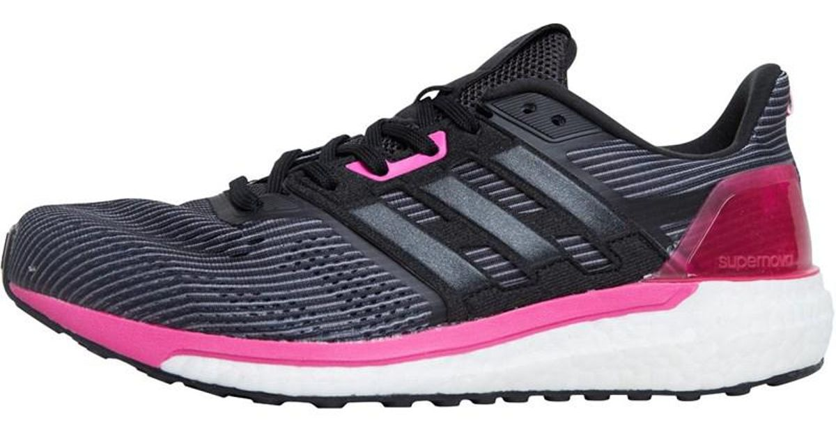 4a10de2bd8c9c adidas Supernova Neutral Running Shoes Utility Black core Black shock Pink  in Black - Lyst