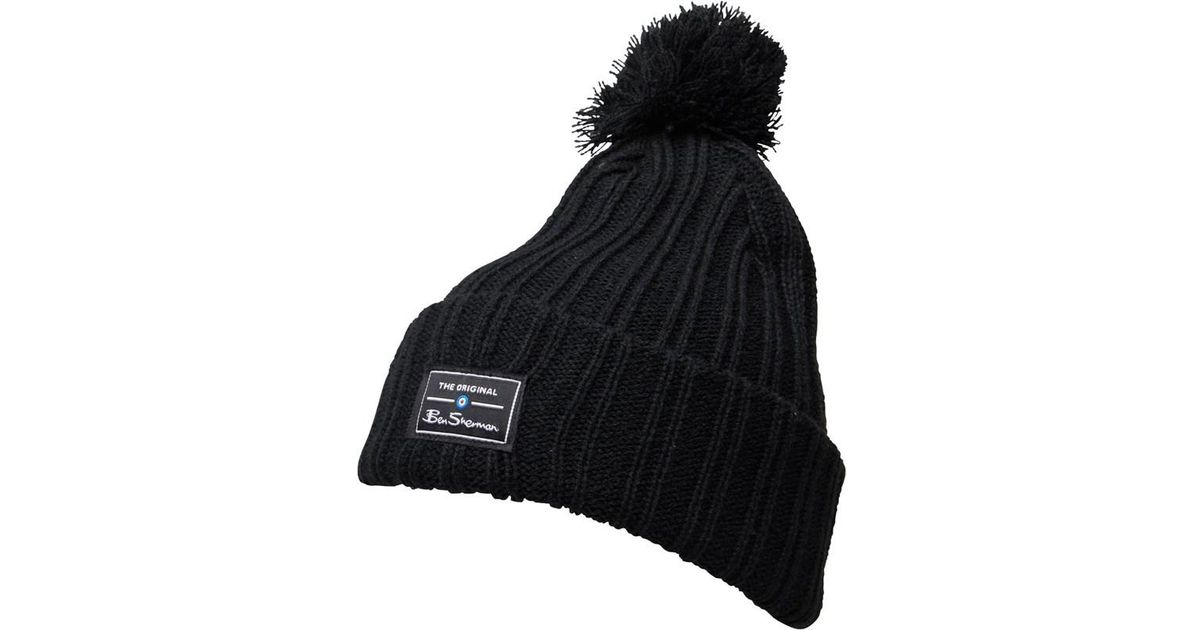 Ben Sherman Mccree Bobble Hat Black in Black for Men - Lyst 16e20127629