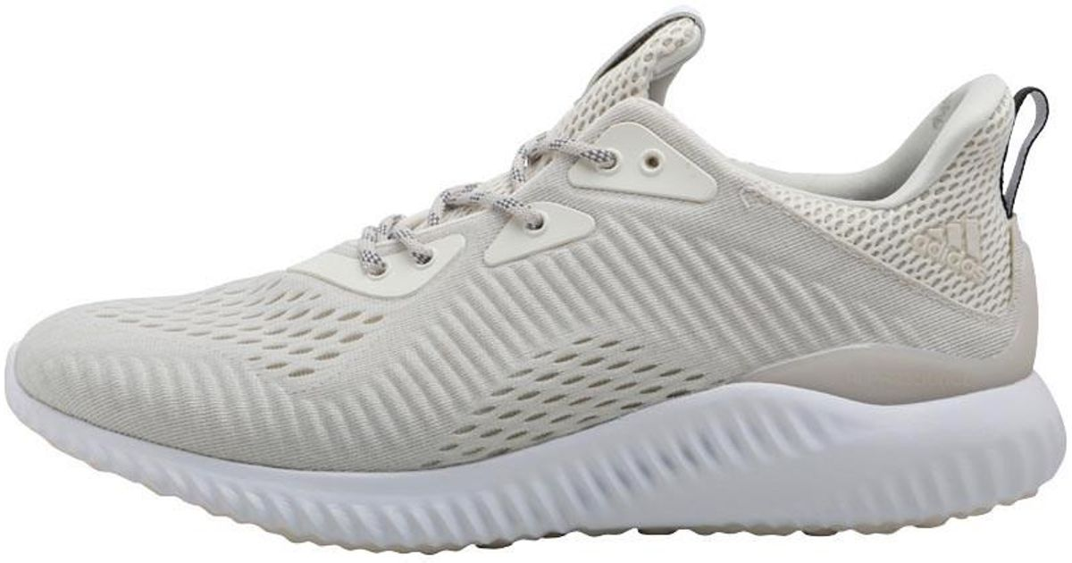 88011e9bd6be adidas Alphabounce Em Running Shoes Beige chalk White footwear White talc  in White for Men - Lyst