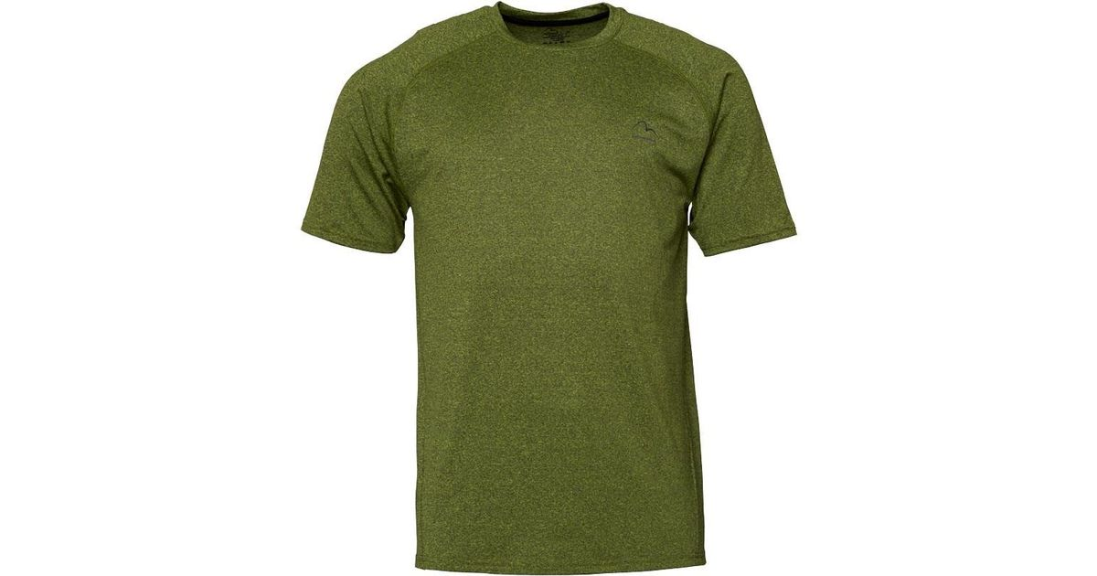 More Mile Active Mens Short Sleeve Running Top Grey
