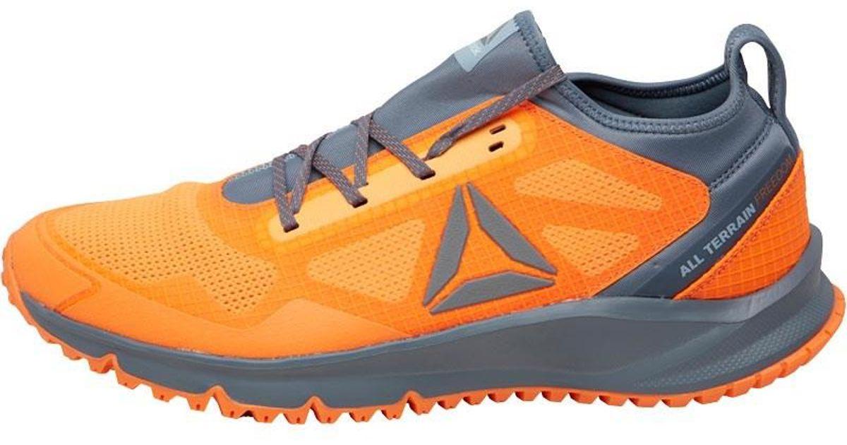 d310db6d83d Reebok All Terrain Freedom Trail Running Shoes Wild Orange asteroid  Dust gable Grey in Orange for Men - Lyst