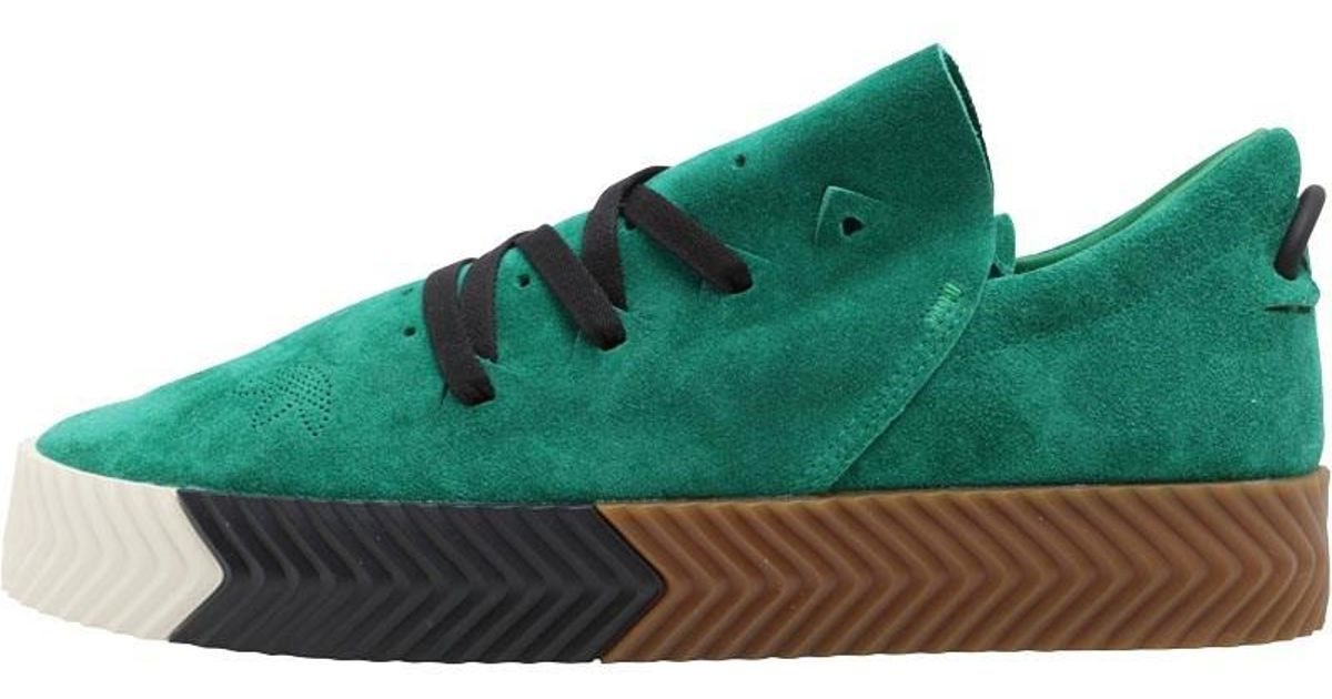 a2a779b6014eb adidas Originals X Alexander Wang Aw Skate Trainers Green white gum in  Green for Men - Lyst