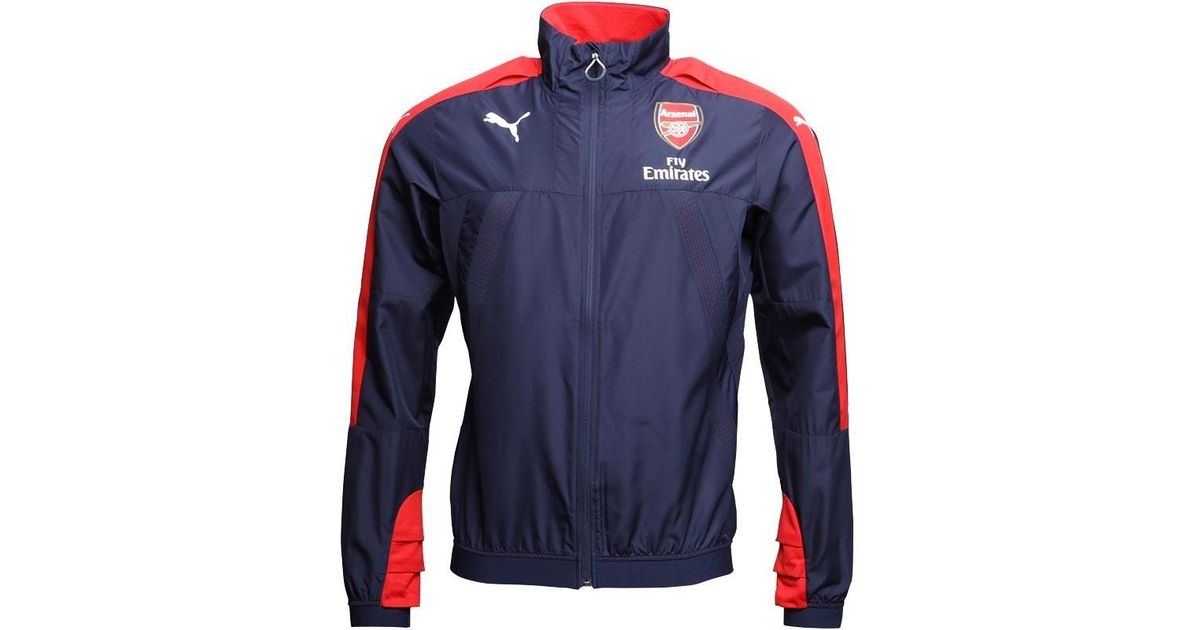 05d63574259a puma afc arsenal vent thermo dwr windcell stadium jacket peacoat red
