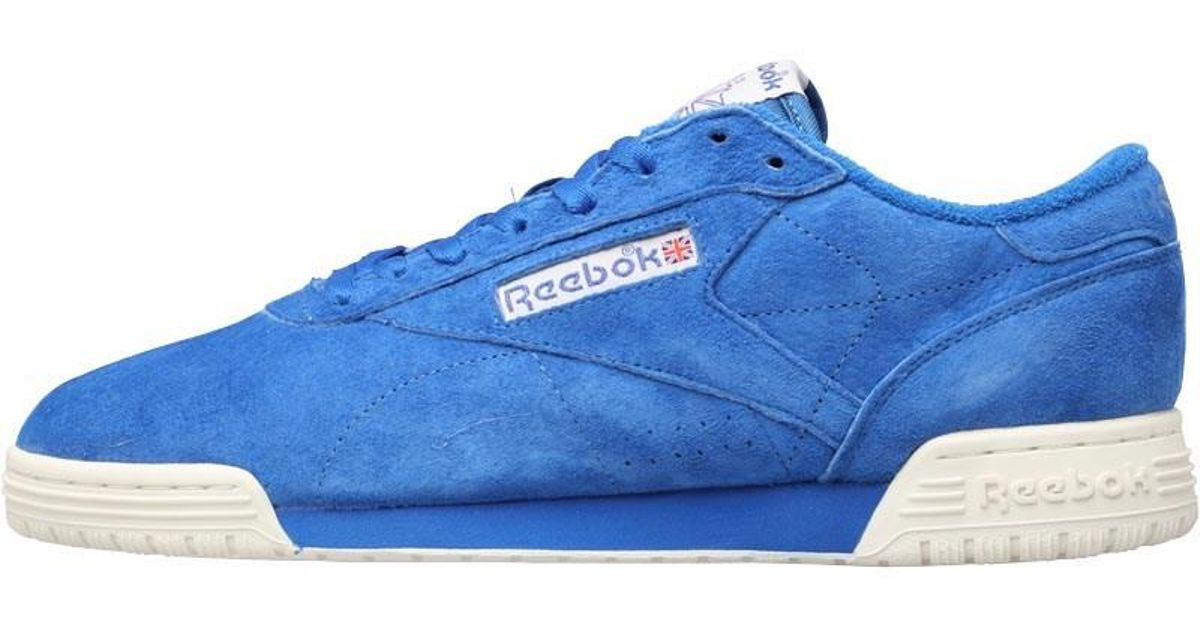 e5d0ea37edf Reebok Ex-o-fit Lo Clean Vintage Trainers Awesome Blue chalk classic White  in Blue for Men - Lyst