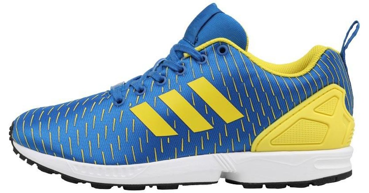 new style 93e89 6cc29 Adidas Originals Zx Flux Trainers Royal Blue/yellow/royal Blue for men