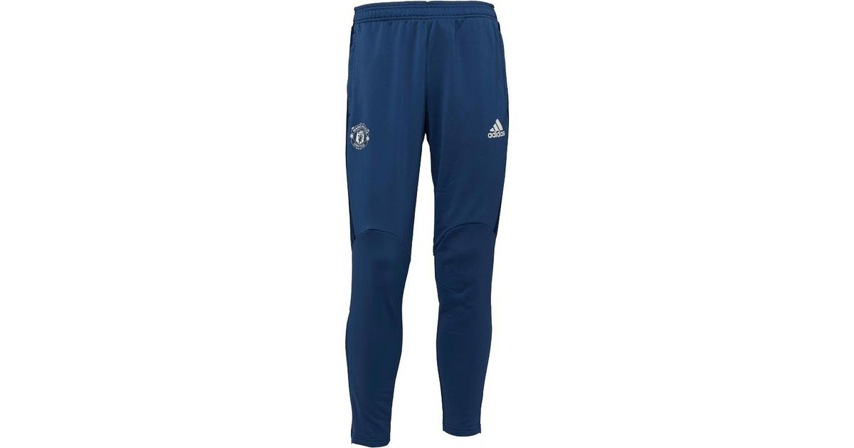 004d2435e48 adidas Manchester United Fc Presentation Pants Mineral Blue collegiate Navy chalk  White in Blue for Men - Lyst