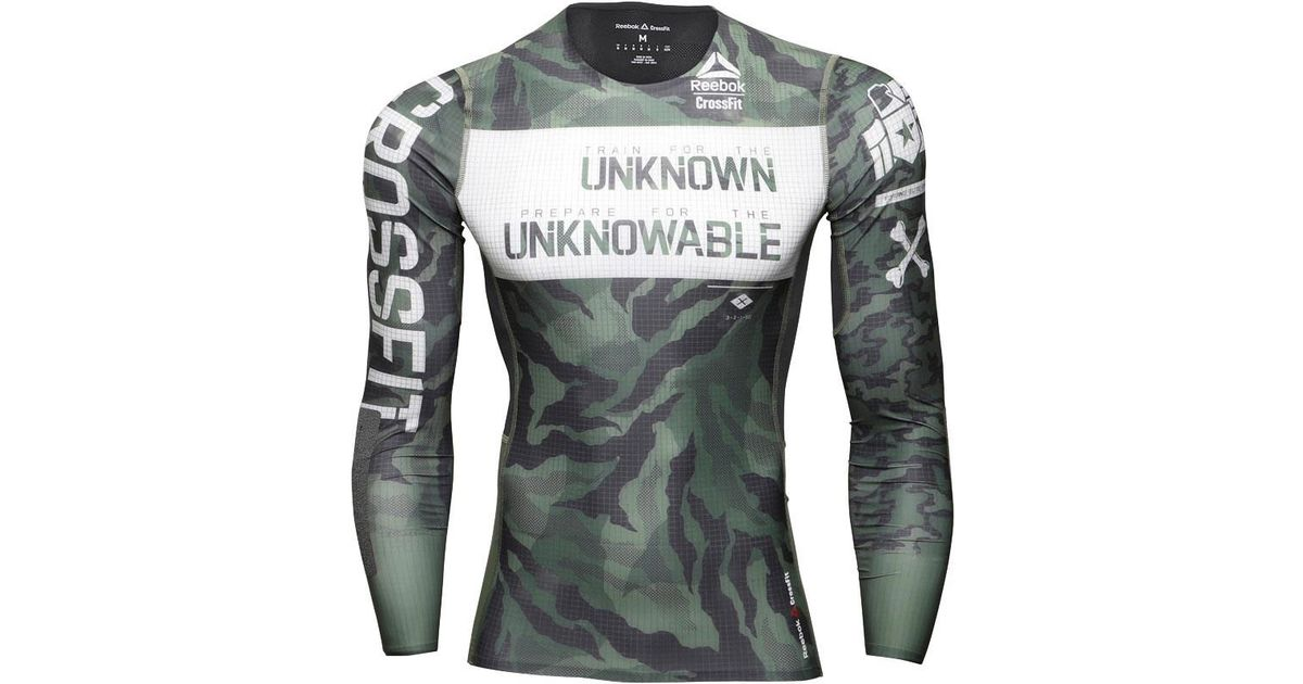 037b0966276c Reebok Crossfit Kevlar Compression Long Sleeve Top Canopy Green in Green  for Men - Lyst
