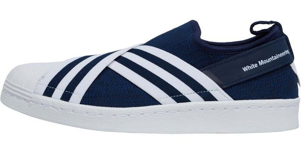 dc9afc540677 adidas Originals X White Mountaineering Primeknit Superstar Trainer  Collegiate Navy footwear White footwear White in Blue for Men - Lyst