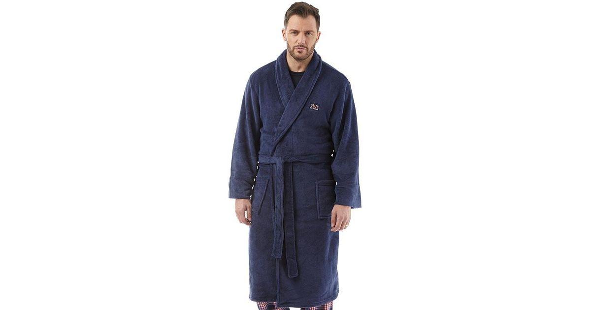 Ben Sherman Henry Fleece Robe Navy in Blue for Men - Lyst af2351d90