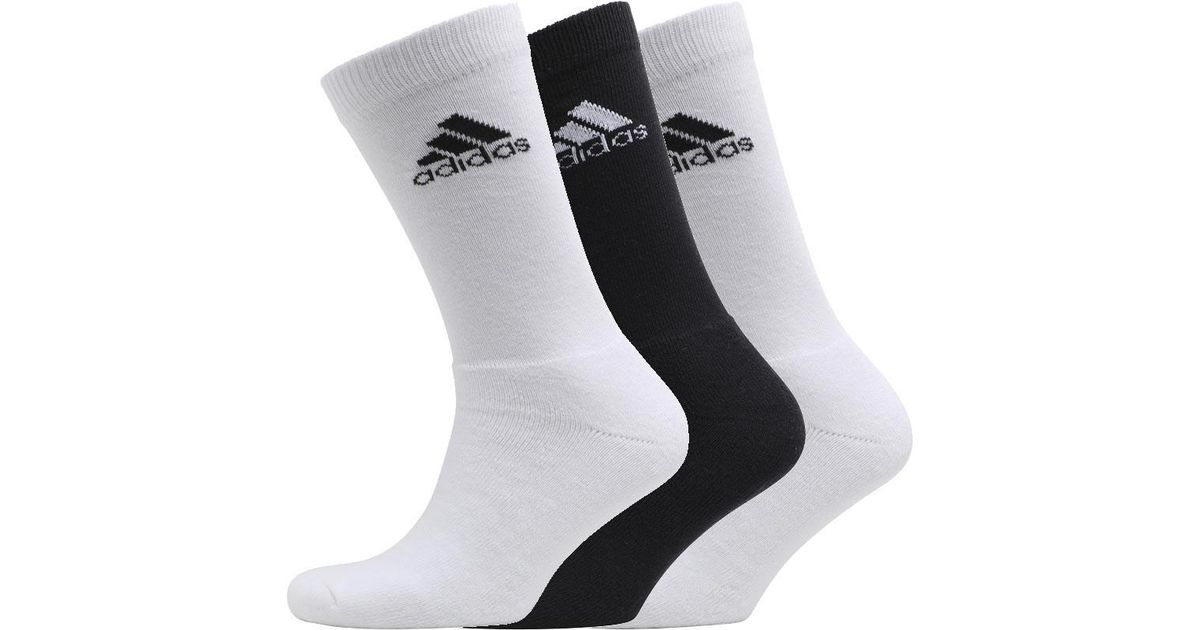 0a671ce0a9520 adidas Nba Three Pack Crew Socks White/white/black in White for Men - Lyst