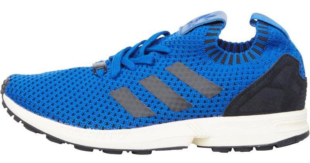 online store b3bac 76007 Adidas Originals Blue Zx Flux Pk Primeknit Trainers Royal/black/white for  men