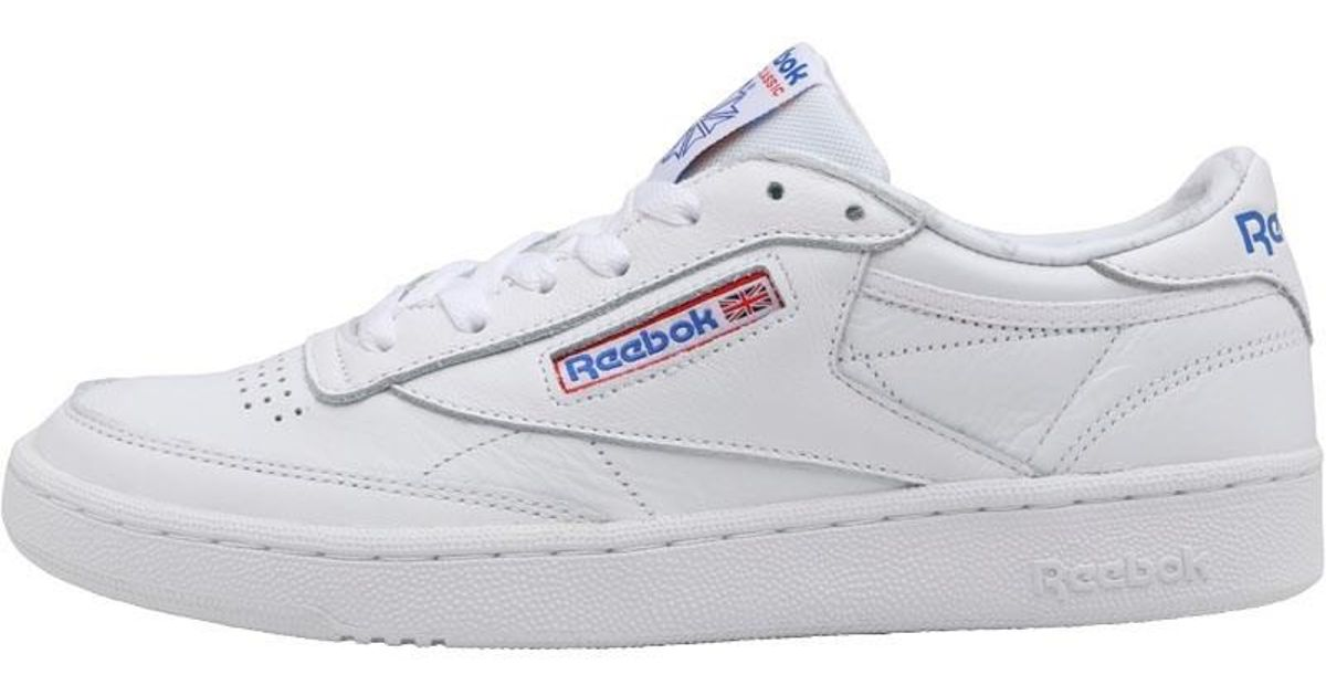 Reebok Club C 85 So Trainers Whitelight Solid Greyvital Blueprimal Red for men