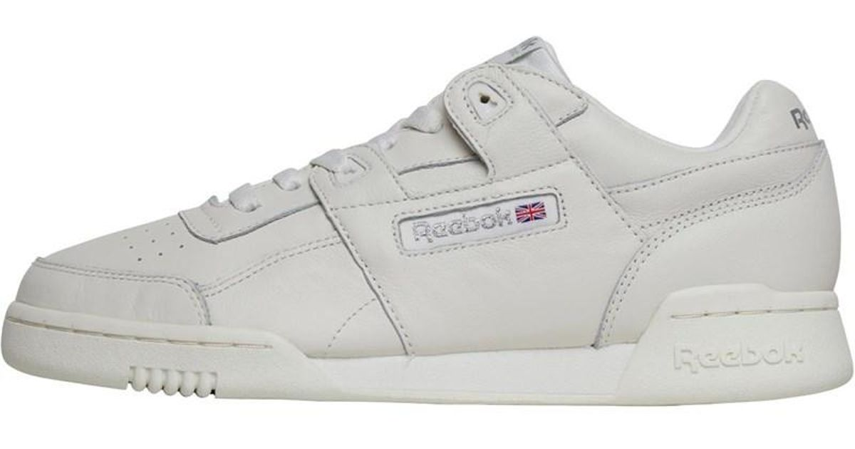 e8f6e02b0232 Reebok Workout Plus Vintage Trainers Chalk metallic Silver in Metallic -  Lyst
