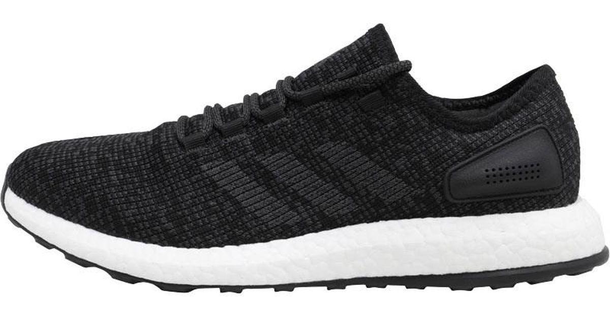 cb1d7de50 adidas Pureboost Neutral Running Shoes Core Black dark Grey Heather Solid  Grey core Black in Black for Men - Lyst