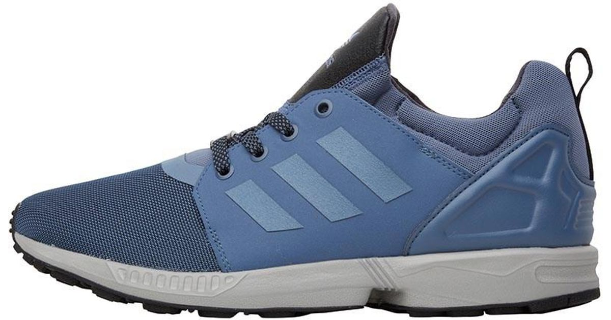 pretty nice d2965 a2211 Adidas Originals Blue Zx Flux Nps Updated Trainers Ink/ink/black for men