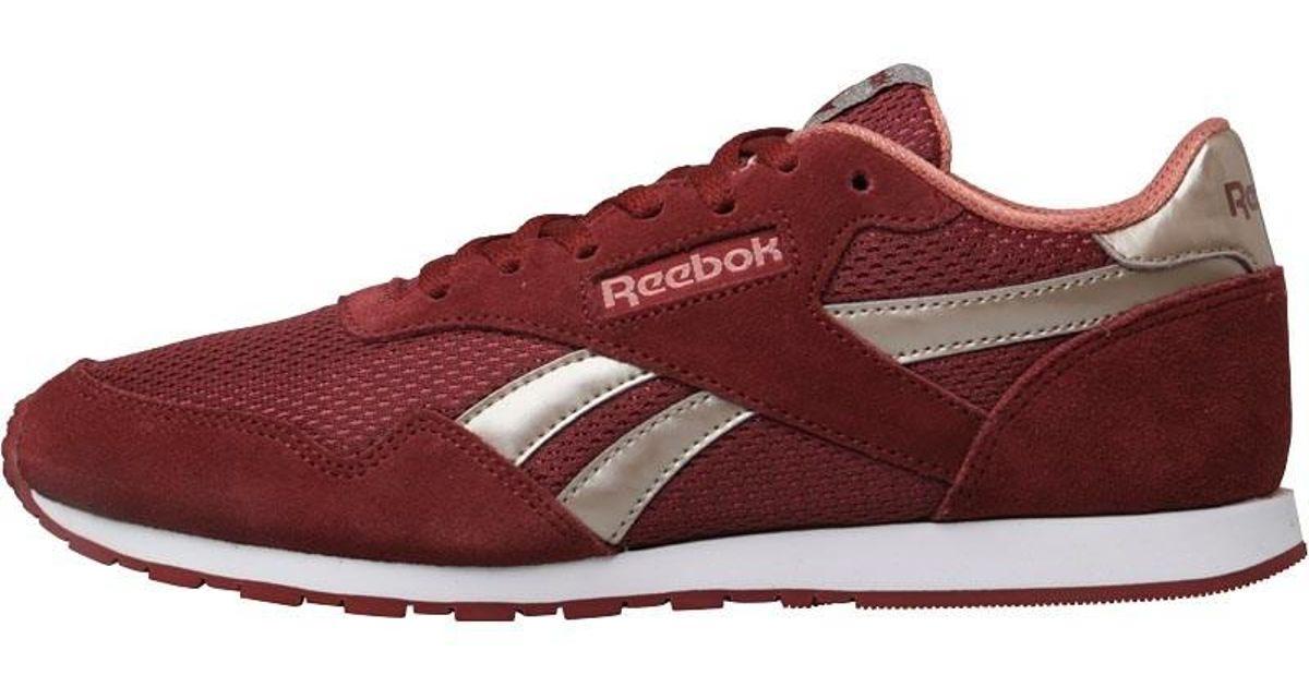 Reebok Classics Royal Ultra Trainers Rugged Maroon sleek Metallic sandy Rose  in Red - Lyst 1800943b7