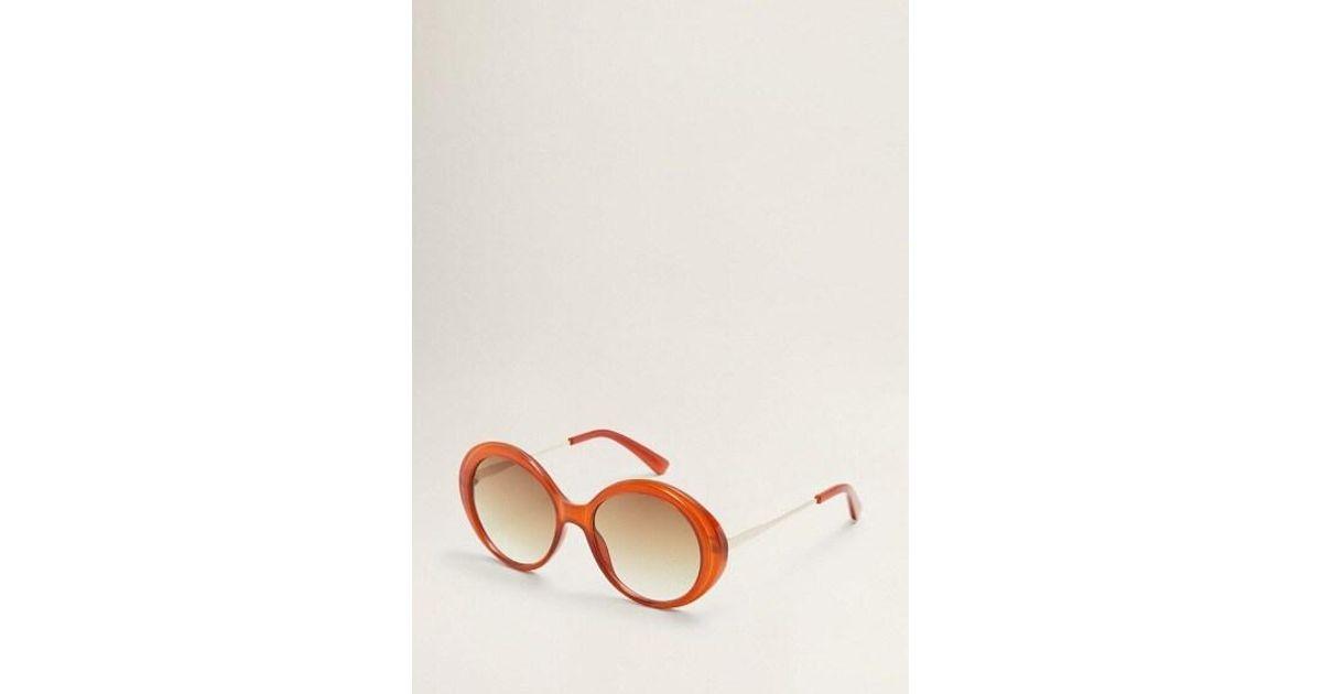 kup popularne na sprzedaż online Stany Zjednoczone Mango Retro Style Sunglasses Burnt Orange