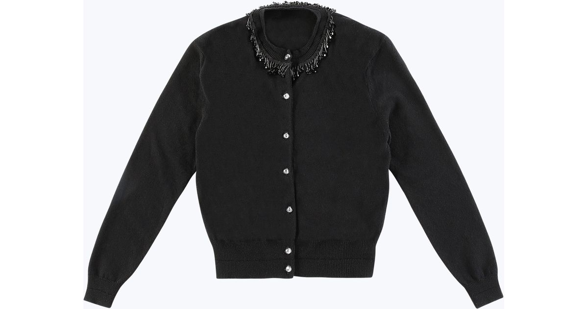 Marc jacobs Beaded Cardigan in Black | Lyst
