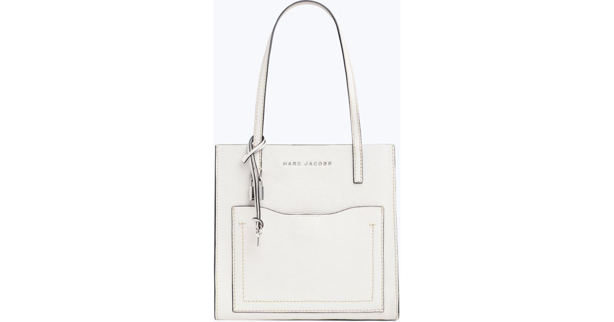 9749cb38ceaa Marc Jacobs White The Medium Grind T Pocket Tote