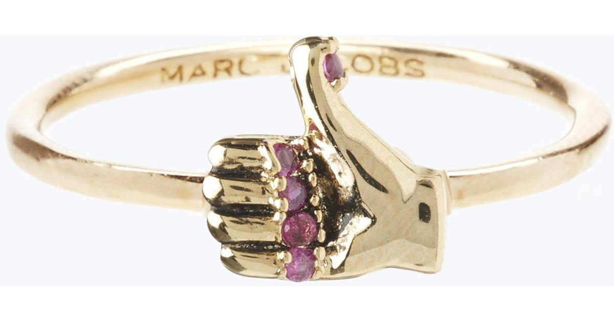 4ce9d1ed7d86b Marc Jacobs Metallic Thumbs Up Ring