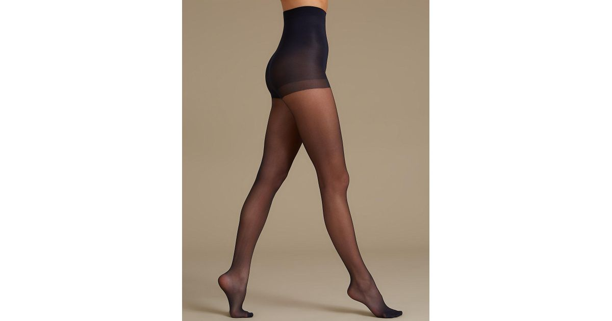 e550725779ec5 Marks & Spencer 2 Pair Pack 10 Denier Secret Slimmingtm Matt Body Shaper  Tights in Blue - Lyst