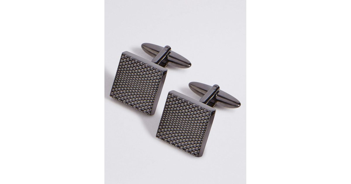 Marks and Spencer Metal Textured Cufflinks gunmetal Tq6kPLzjWx