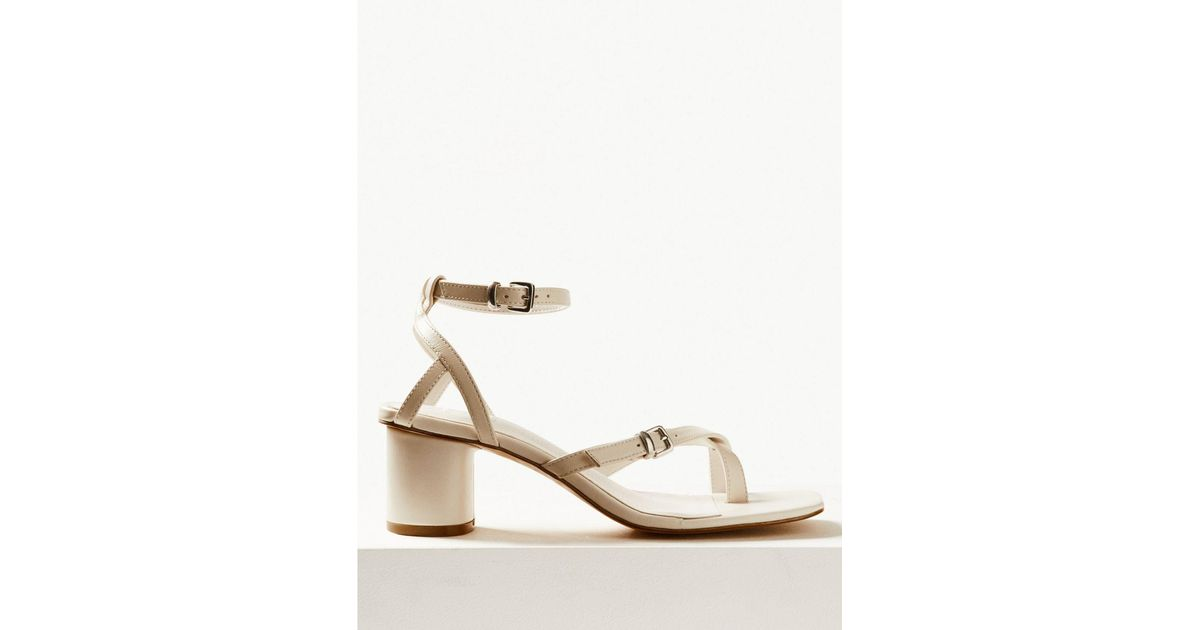 on feet at hot new products hot sales Marks & Spencer Leather Ankle Strap Sandals White - Lyst