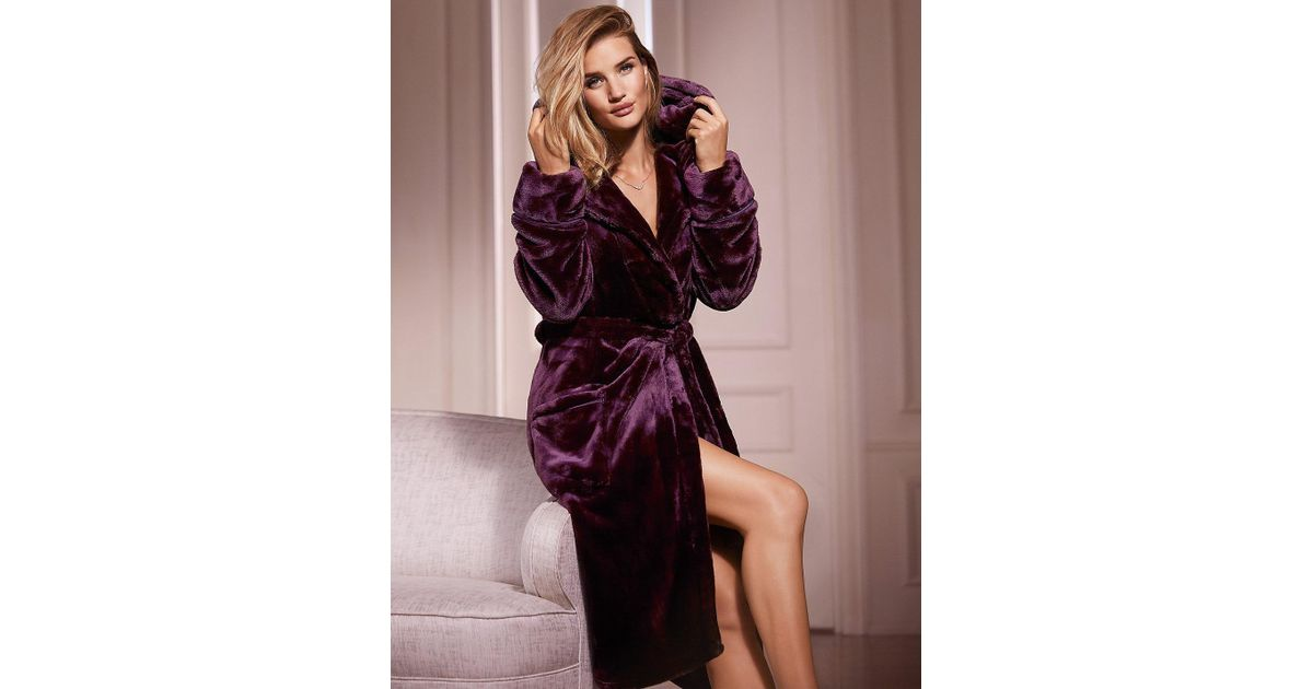 Lyst - Marks & Spencer Shimmer Dressing Gown in Purple
