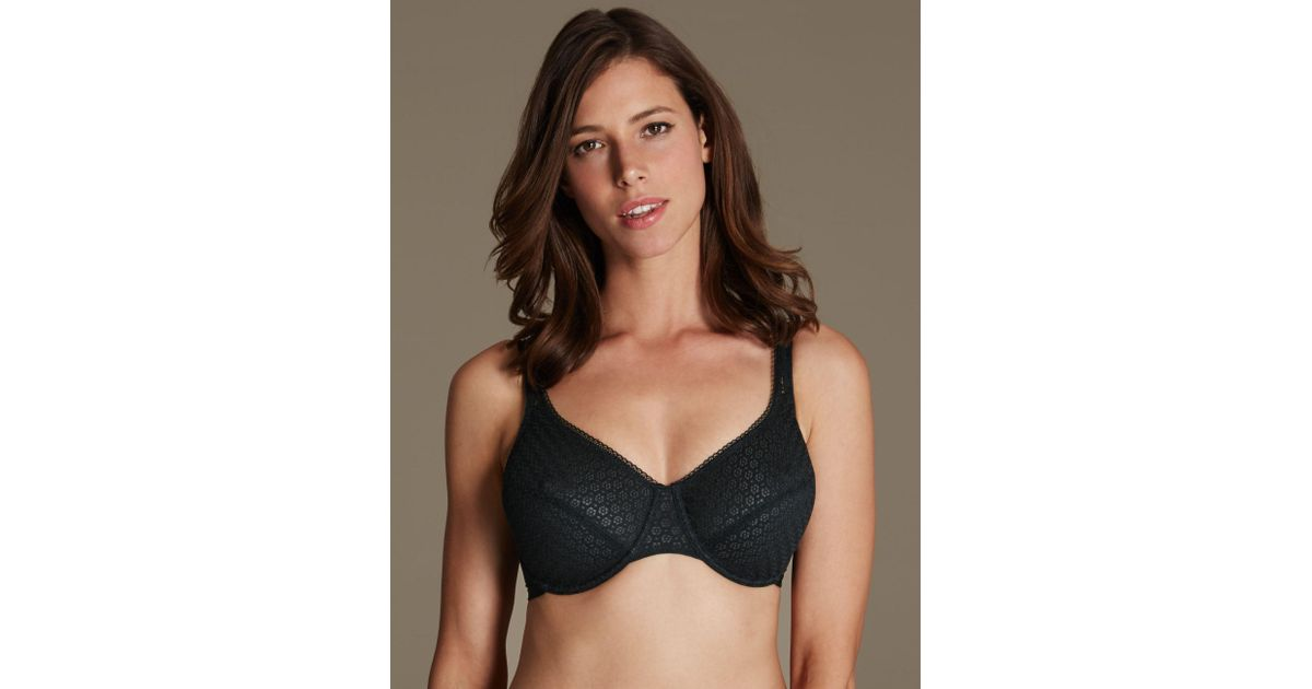 2048a4e87f Marks   Spencer 2 Pack Geometric Lace Minimiser Full Cup Bras C-g - Lyst