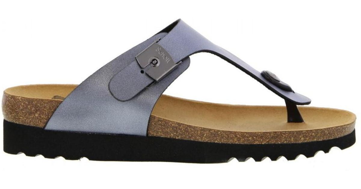 35527934d04 Scholl Boa Vista Up Toe Post Flip Flop Sandals in Gray - Lyst