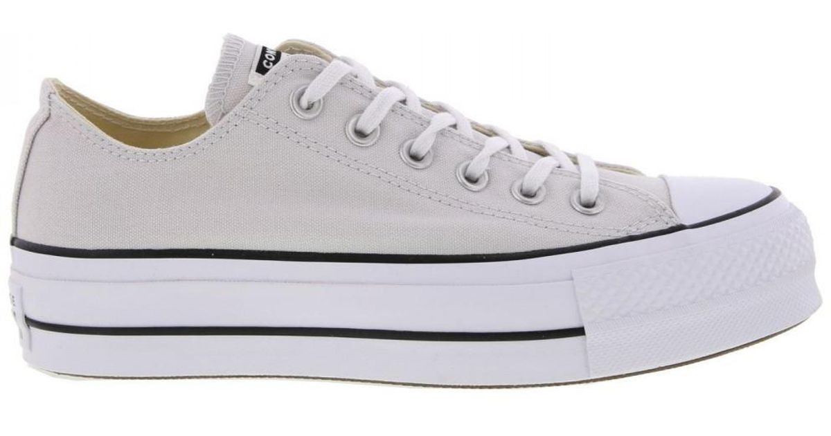 Converse All Star Low Platform Trainers Lift Ox Chunky Shoes in White - Lyst 49de5fb3c60