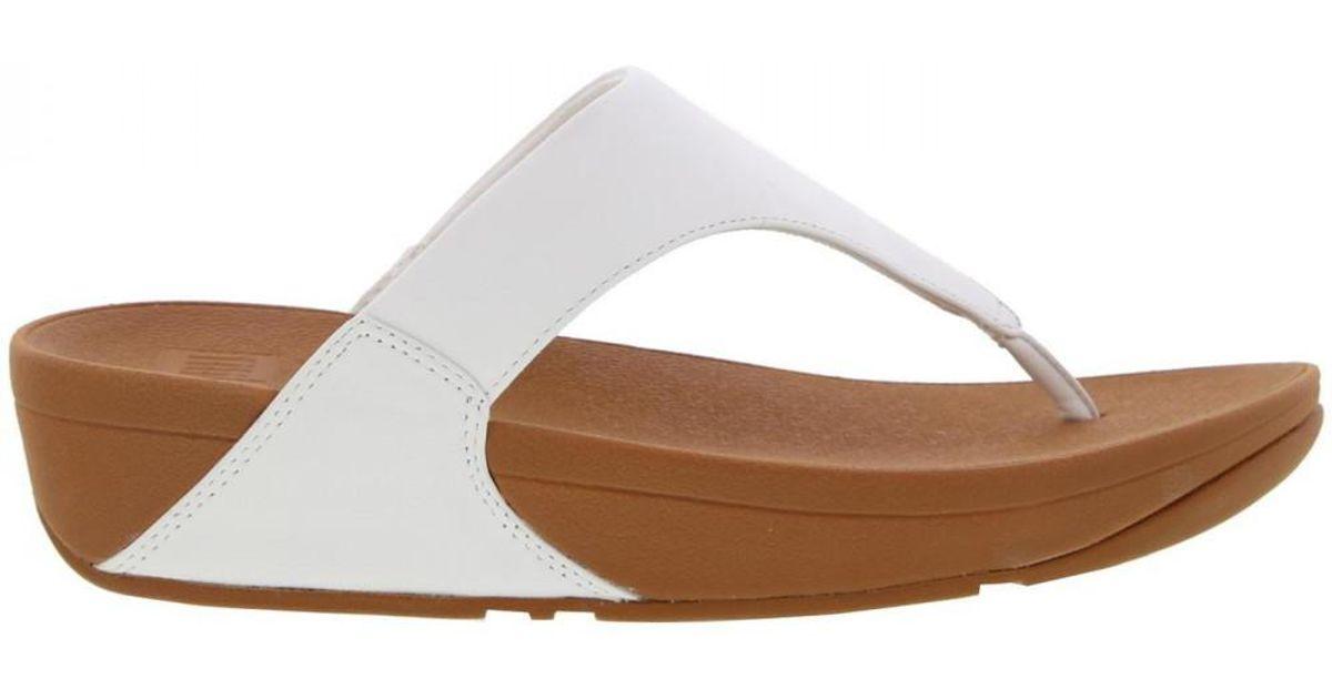 4c10c0b70fb1ef Fitflop Lulu Toe Post Leather Flip Flop Sandals - Lyst