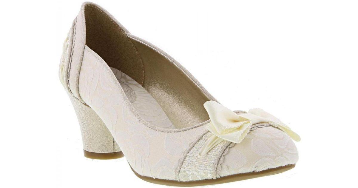 Womens Ruby Shoo Antonia White Silver Vegan Friendly Wedding Shoes Size