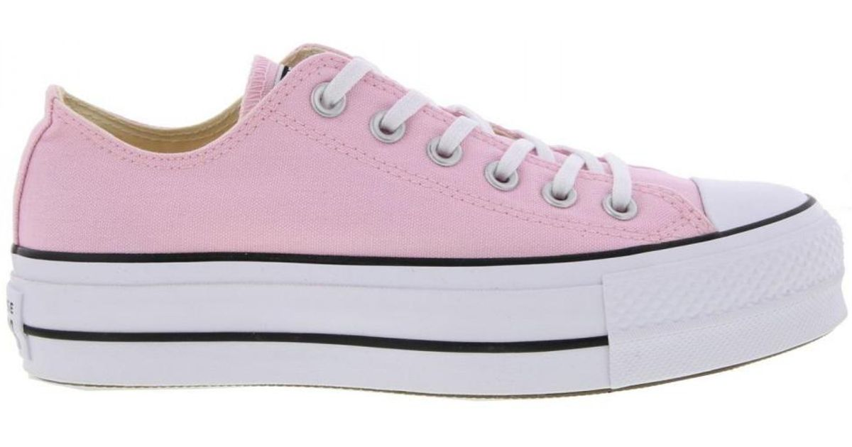 2651e66896eb8 Converse Pink All Star Low Platform Trainers Lift Ox Chunky Shoes
