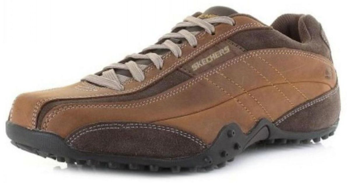 ccd561b9f943 Skechers Imperial Urban Track Lace Up Shoes Trainers in Brown for Men - Lyst