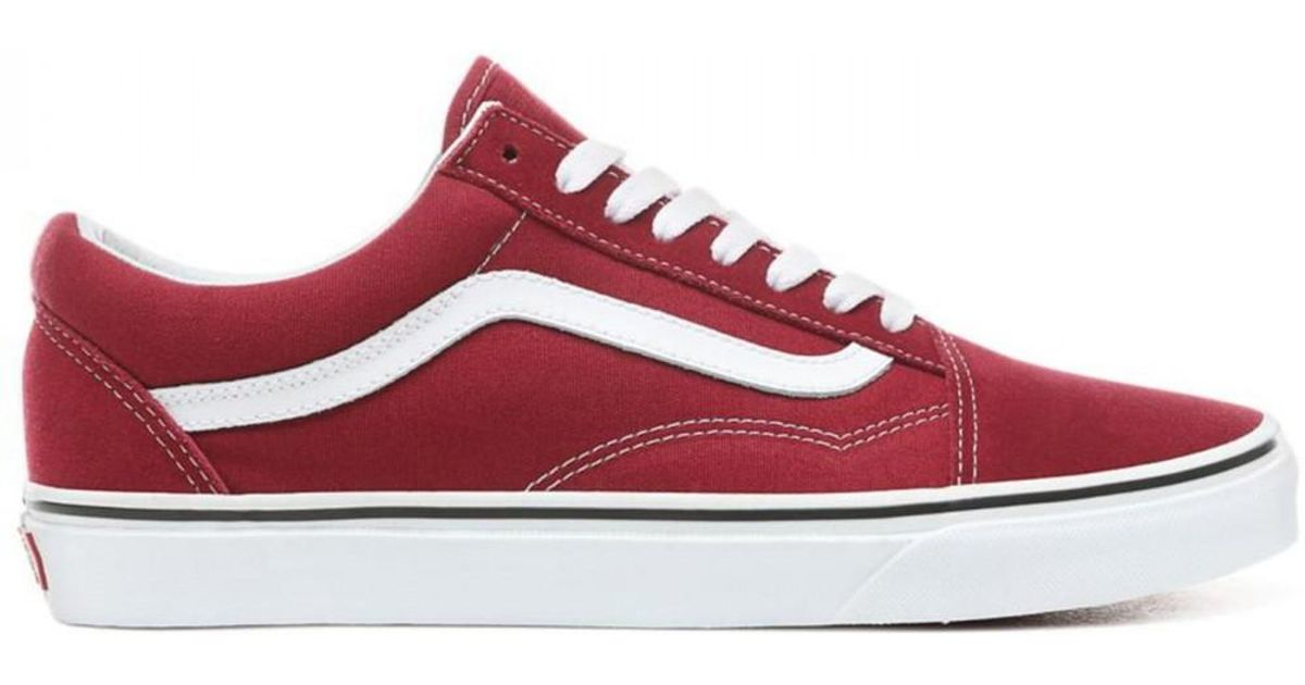 536b66c0b4c1 Vans Dry Rose Red   True White Old Skool Trainers Women s Shoes (trainers)  In Red in Red - Save 31% - Lyst