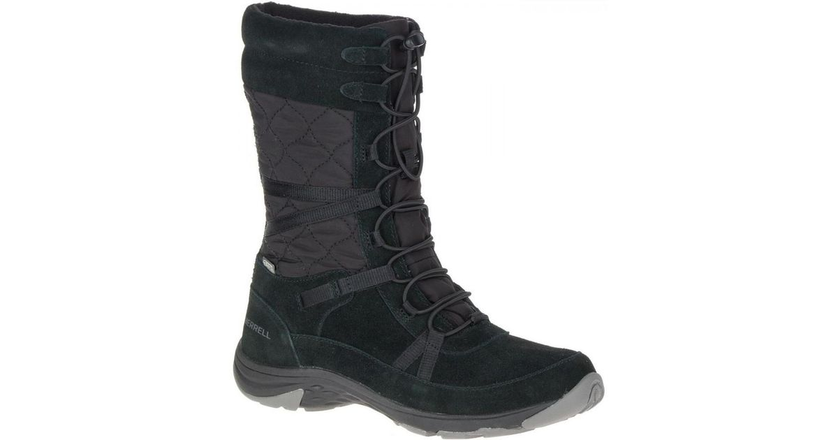f9c881d3668 Merrell Approach Tall Waterproof Walking Snow Boots in Black - Save 12% -  Lyst