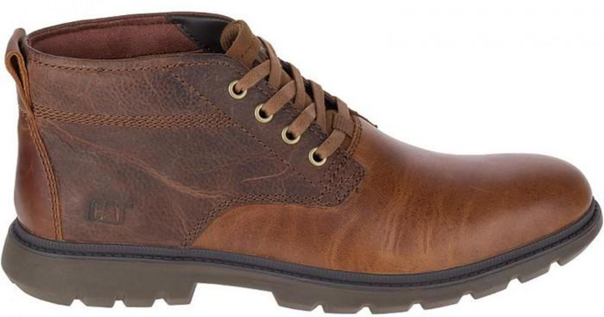 CAT Lifestyle TRENTON Mens Casual Leather Chukka Lace Up Ankle Boots Brown Sugar